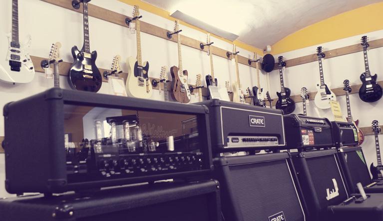 Gitarrenabteilung