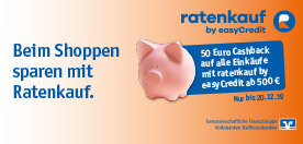 Ratenkauf easyCredit Cashback