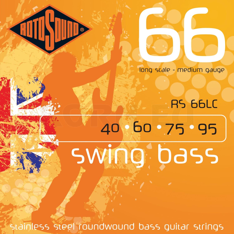 Rotosound 4er 40-95 Swing Bass 66 Bass Saiten RS66LC Stainless Steel