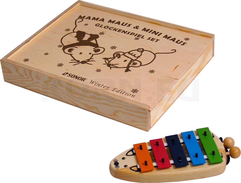 Noten Sonor MaMa /& Mini Maus Set Glockenspiel Sopran