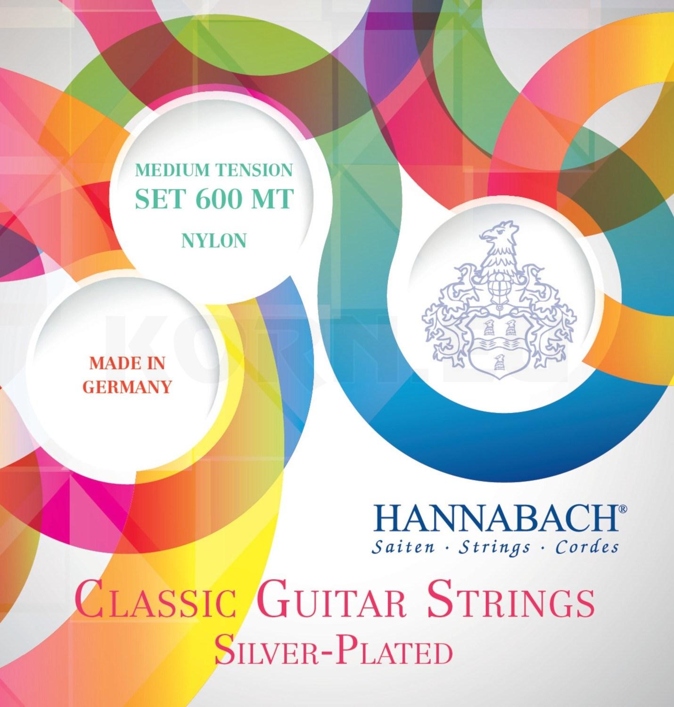 Hannabach 600 MT Nylonsaiten für Konzertgitarre medium tension