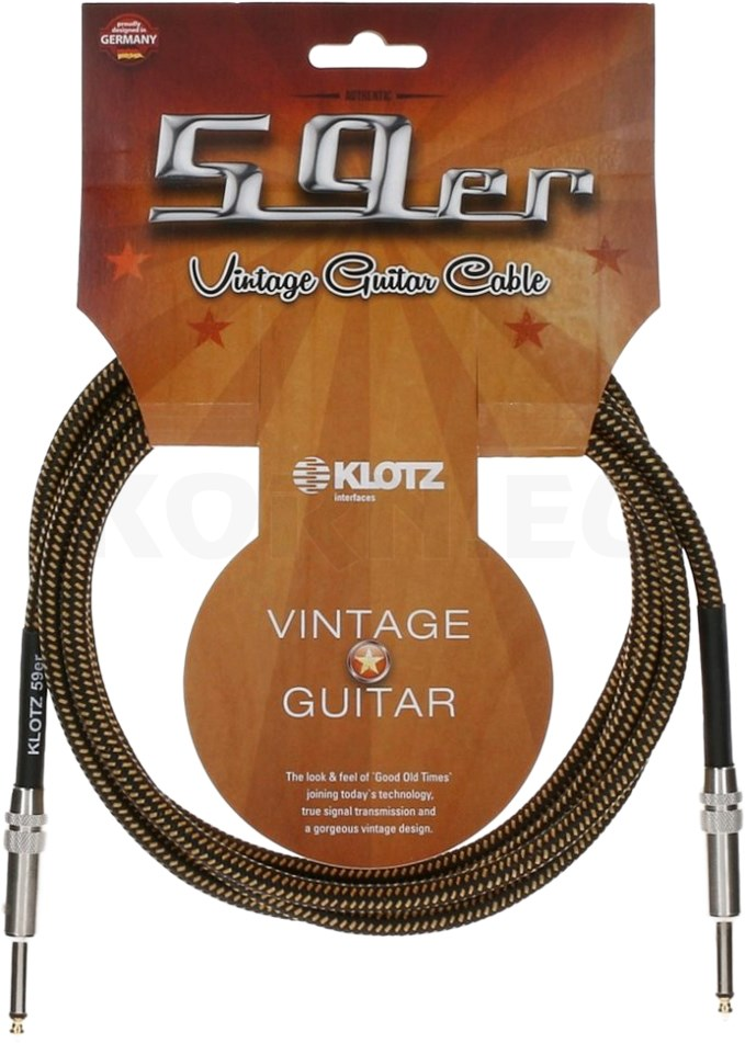 Gitarrenkabel Instrumentenkabel VINTAGE Textil Kabel Klinke Klinke 6,3-6m v6