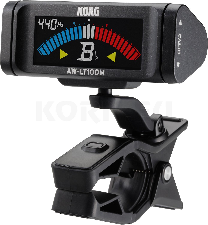 schwarz KORG AW-LT100B Clip-on Tuner Stimmgerät für Bass