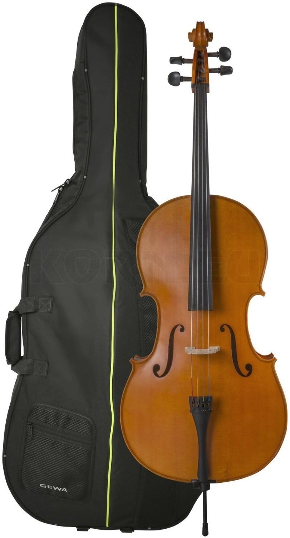 schwarzes Cello 1//4 inklusive Bogen und Tasche