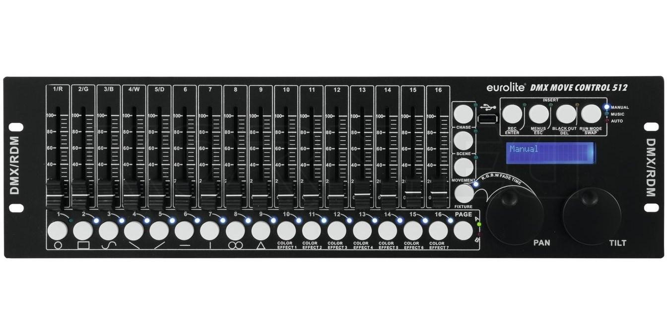 B-WARE Involight LightControl DMX-512 Controller Lichtsteuerung 16 Kanal USB