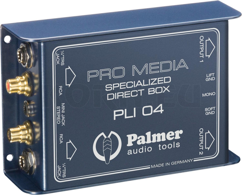DI Box 2 Kanal passiv Palmer PAN 04