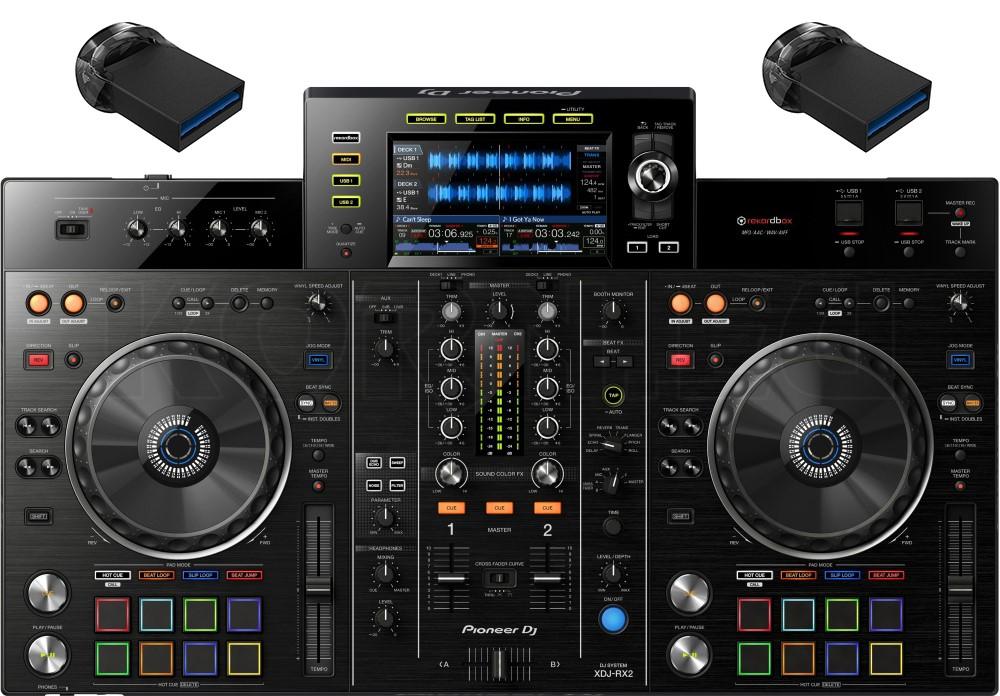 Pioneer XDJ-RX2 + 2x 64 GB USB Stick Set