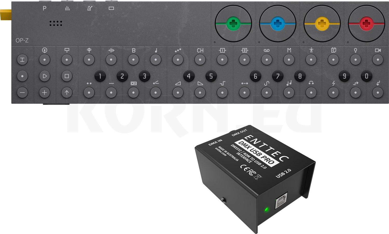 Onwijs Teenage Engineering OP-Z + ENTTEC DMX USB Pro... | music store XW-22