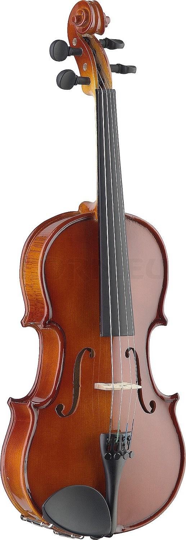 Geige 4//4 vollmassive Violine schwarz mit Bogen und Koffer
