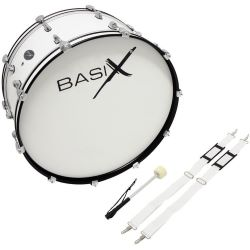 Basix Marching Bass Drum 24x10 weiß