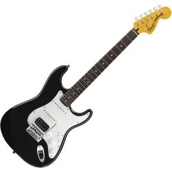 Fender Squier Vintage Modified Strat HSS Black E-Gitarre