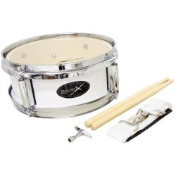 GewaPure Basix Junior Marching Drum 10x4 white