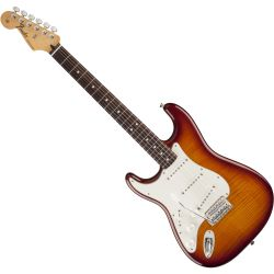 Fender Standard Strat Plus Top RW TBS Linkshänder E-Gitarre