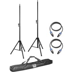 LD Systems Stative mit Tasche + Speakerkabel 5m f. Dave 8 Roadie