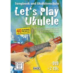 Hage - Let's Play Ukulele, m. DVD u. 2 Audio-CDs