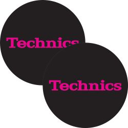 Slipmat Technics Simple 3 black-red Logo