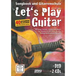 Hage - Let's Play Guitar mit DVD u. 2 Audio-CDs