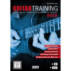 Hage - Guitar Training Rock m. CD und DVD