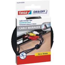 tesa 55239 On&Off Cable Manager 5m schwarz