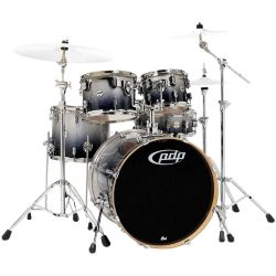 PDP by DW Drum-Set Concept Maple Silver to Black Sparkle Fade