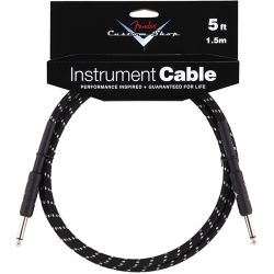 Fender Custom Performance Cable straight 1,5m Black Tweed
