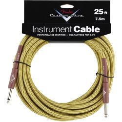 Fender Custom Performance Cable straight 7,5m Yellow Tweed