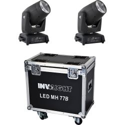 Involight 2x LED MH77B im Flight Case