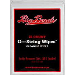 Big Bends String Wipes 25 pcs. Reinigungstücher f. Gitarresaiten
