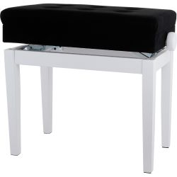 Gewa Pianobank Deluxe Compartment Weiss matt