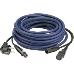 DAP AUDIO Powersignalcable 10m  Schuko/Kalt- XLR
