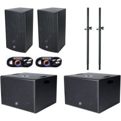 Alpha Audio PA System 2 Sub Set 1