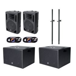 Alpha Audio PA System 2 Sub Set 2