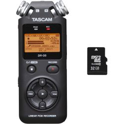 Tascam DR-05 V2 + 32 GB Micro SD HC Card