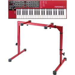 Clavia Nord Lead A1 + K&M 18810 MK2 Red Bundle