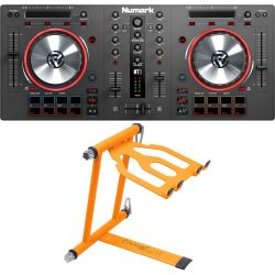 Numark Mixtrack 3 + Crane CV-3 Laptop Stand Set