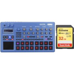 Korg Electribe 2 BL Blau + 32 GB SD HC Card Set