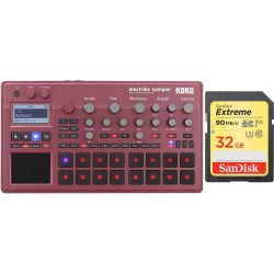 Korg Electribe Sampler 2 R Rot + 32 GB SD HC Card Set