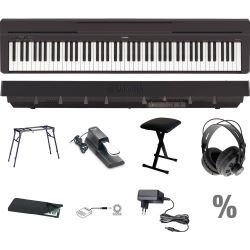 Yamaha P 45 B Digital E-Piano Klavier T Set + KB + KT + SP + KA + KH + NT