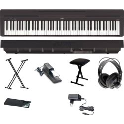 Yamaha P 45 B Digital E-Piano Klavier X Set + KB + KS + SP + KA + KH + NT