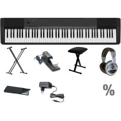 Casio CDP-130 BK E-Piano Klavier X Set + KB + KS + SP + KA + KH + NT