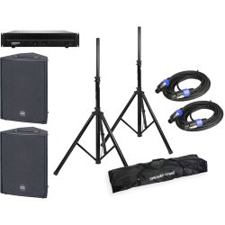 HK Audio Powerworks RS 152 X 2er Set + EQ + Amp + Speaker Kabel + Stative