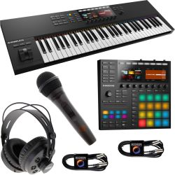 Native Instruments MASCHINE MK3 + KOMPLETE Kontrol S61 MK2 + ZBH Set