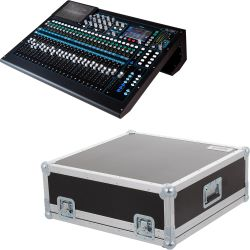 Allen & Heath QU-24 Chrome Digitales Kompaktmischpult + Haubencase
