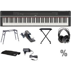 Yamaha P 125 BK Digital E-Piano Klavier T Set + KB + KT + SP + KA + KH + N