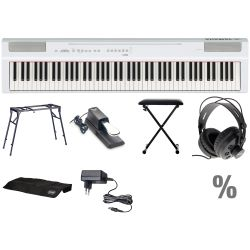 Yamaha P 125 W Digital E-Piano Klavier T Set + KB + KT + SP + KA + KH + N