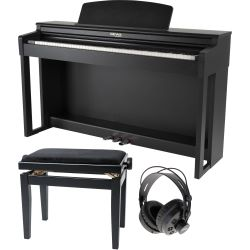 GEWA Digitalpiano UP-360G Schwarz matt Set