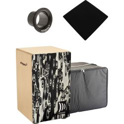 Schlagwerk CP4017 Cajon Black Eyes + Tasche + Bass Tube