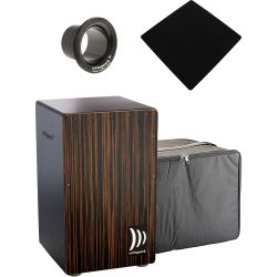 Schlagwerk CP432 Cajon 2 in One Deluxe Makassar + Bag + Pad + Bass Tube