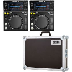 Pioneer XDJ-700 DJ Player 2er Set + Haubencase