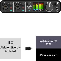 MOTU M4 USB Audio Interface + Ableton Live 10 Suite - Lizenz Code